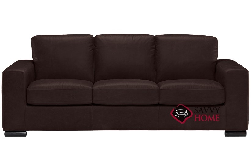 B534 Natuzzi Queen Sleeper Sofa Shown In Denver Dark Brown