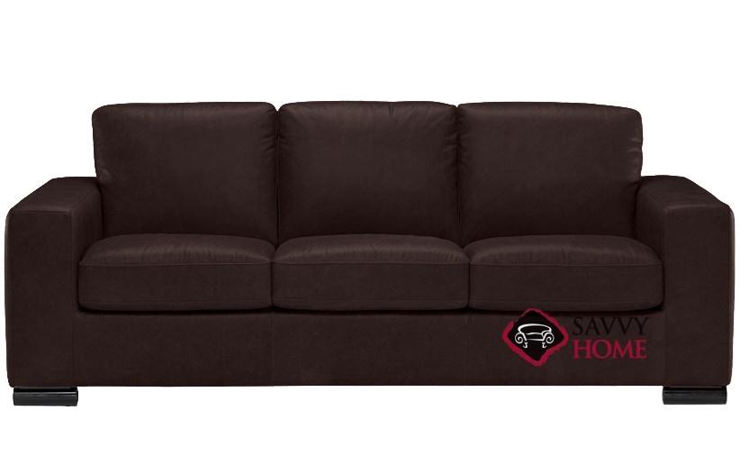 Superieur B534 Natuzzi Queen Sleeper Sofa Shown In Belfast Dark Brown