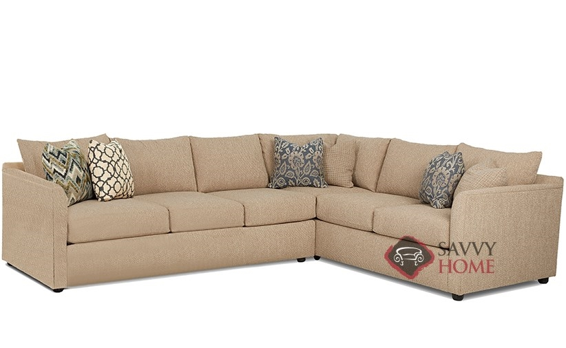 Aventura True Sectional Queen Sleeper Sofa By Savvy
