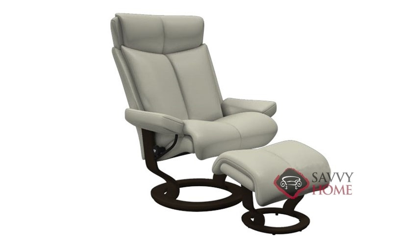 ... Magic Medium Recliner And Ottoman In Paloma Light Grey ...