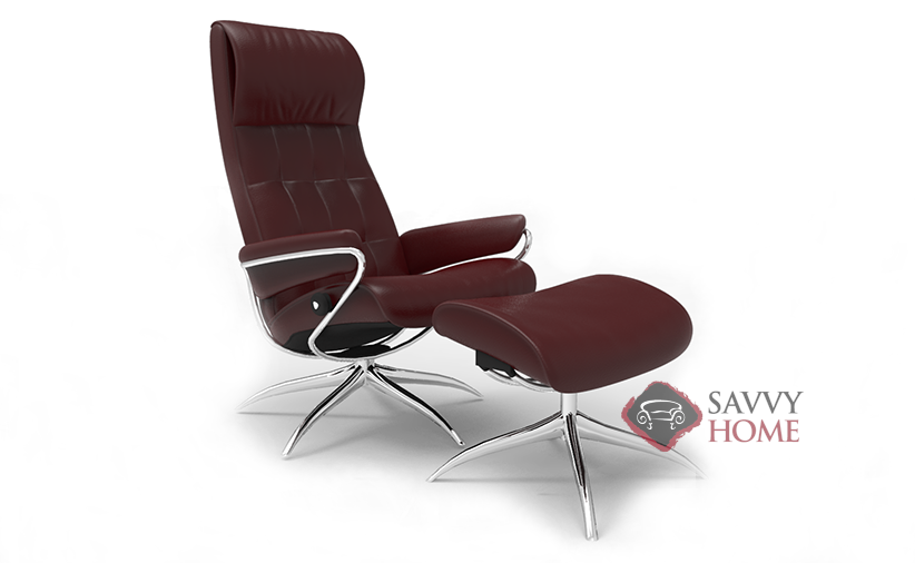 Charmant London High Back Reclining Chair And Ottoman By Stressless