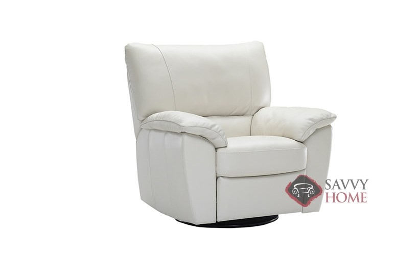 To B632 004 Reclining Leather Chair By Natuzzi Editions In Le Mans White