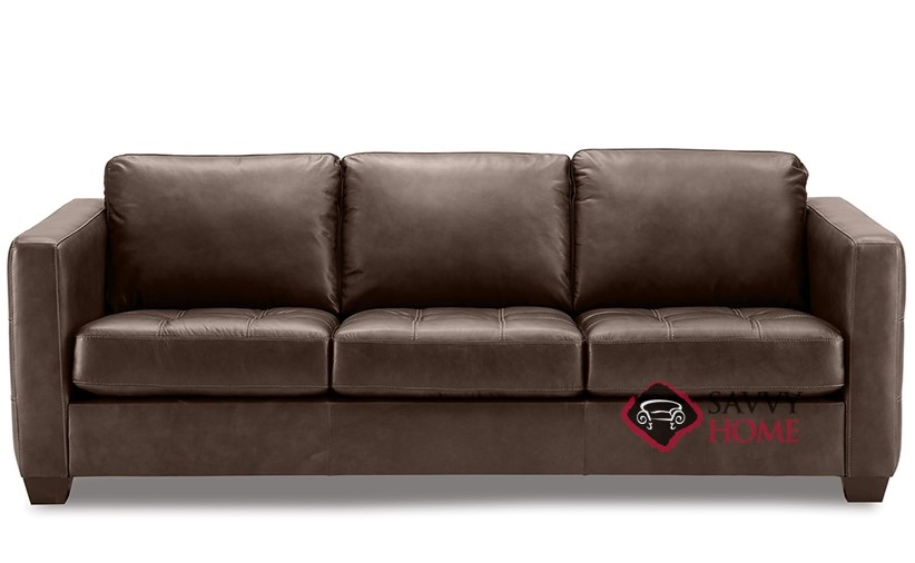 Barrett Leather Stationary Sofa By Palliser Is Fully Customizable