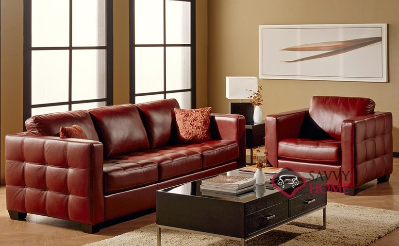 Barrett Leather Sofa By Palliser Room Shot