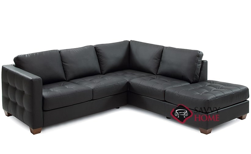 Barrett Leather Stationary Chaise Sectional by Palliser is Fully ...