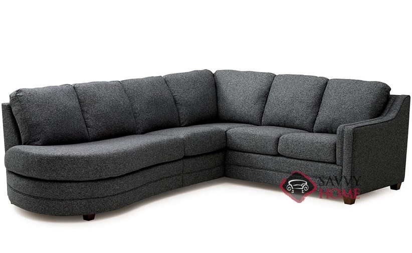 Corissa fabric chaise sectional by palliser is fully for Angled chaise sofa