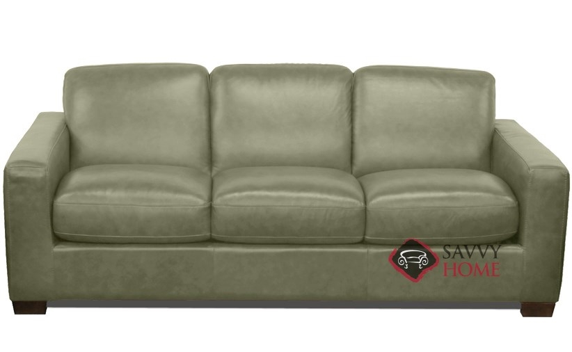 Quick Ship Rubicon B534 Leather Sleeper Sofas Queen In