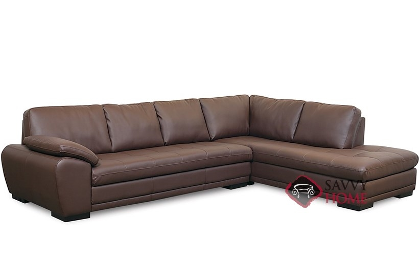 Miami by palliser leather chaise sectional by palliser is for Sectional couch miami