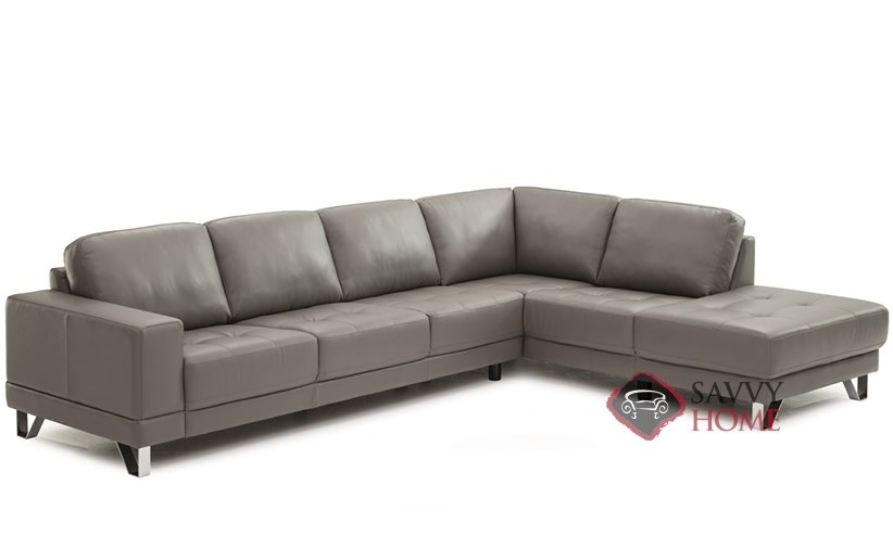 Leather Stationary Chaise Sectional