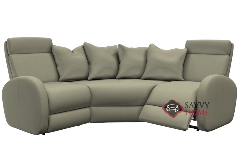 Bon Jasper II My Comfort Compact Reclining True Sectional Sofa By  Palliser  Power Upgrade Available
