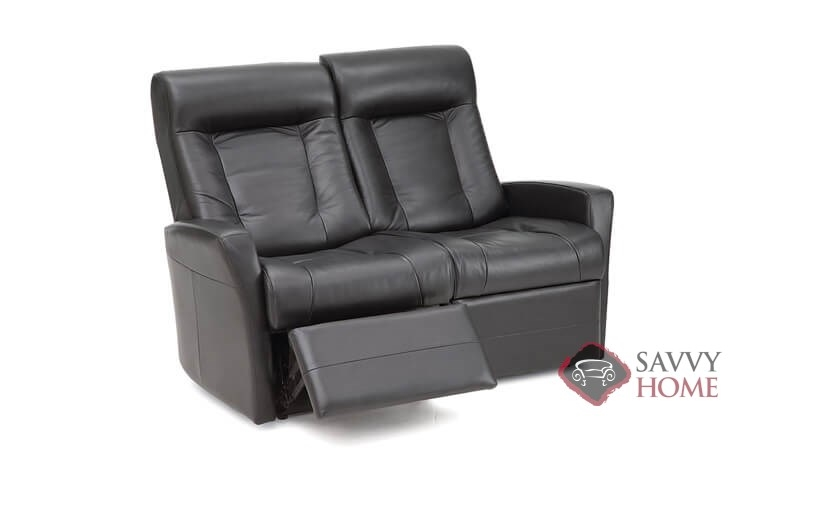 Banff II My Comfort Dual Reclining Leather Loveseat By Palliser  Power  Upgrade Available