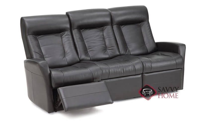 Banff II My Comfort Dual Reclining Top-Grain Leather Sofa by  Palliser--Power Upgrade Available
