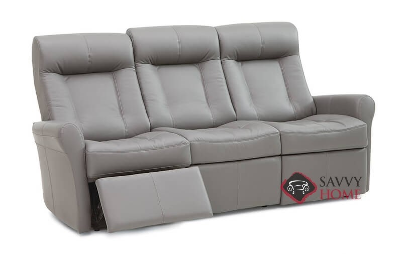 Yellowstone II My Comfort Dual Reclining Top-Grain Leather Sofa by  Palliser--Power Upgrade Available