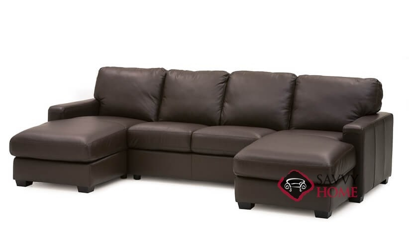 Westend Top-Grain Leather Dual Chaise Sectional Sofa by Palliser