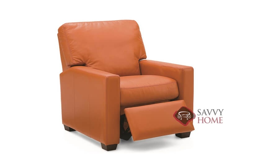 ... Westend Leather Reclining Chair By Palliser In Dazzle Cayenne Open ...