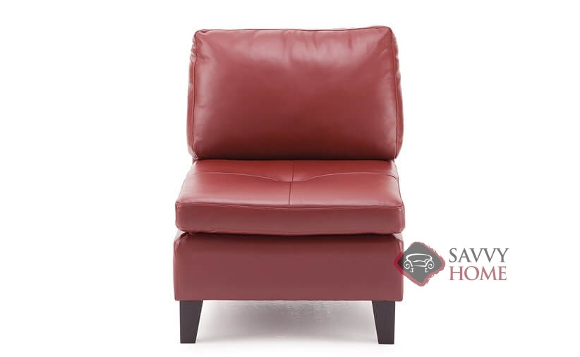 Superior Wynona Leather Armless Chair By Palliser In Tulsa II Russet