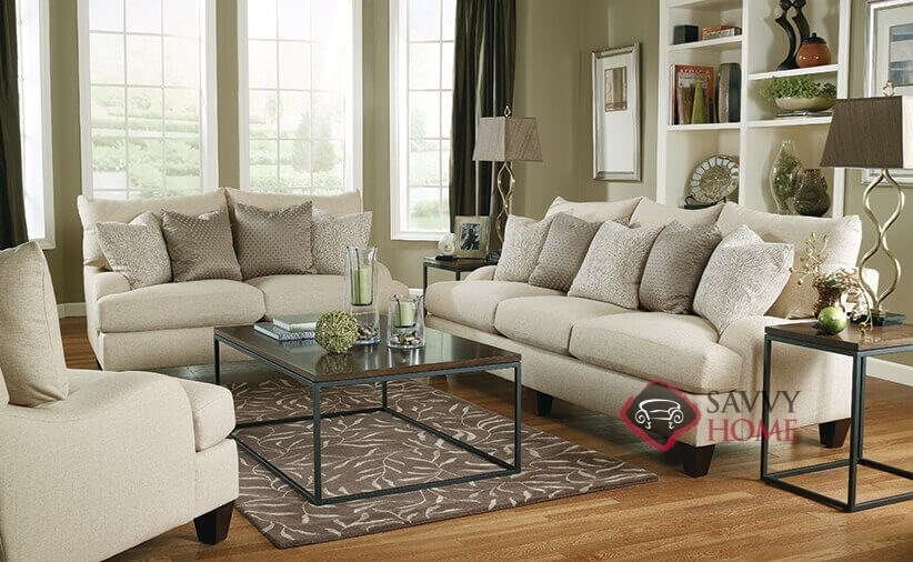 ... Brooke Sofa With Down Blend Cushions Roomshot ...