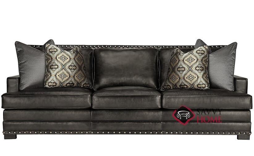 Cantor Leather Sofa With Down Blend Cushions By Bernhardt In 165 222