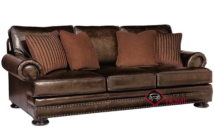 Superieur Foster Leather Sofa With Down Blend Cushions By Bernhardt