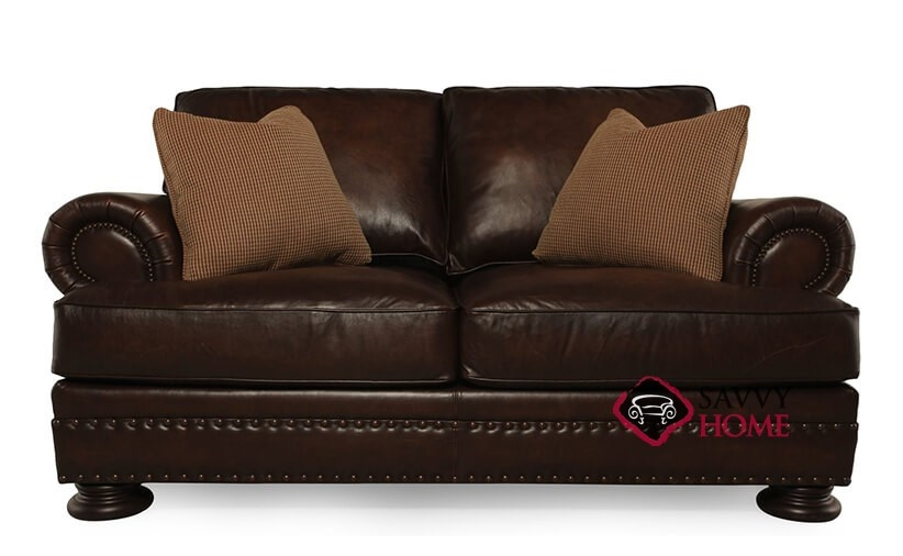 Quick Ship Foster By Bernhardt Leather Loveseat In By