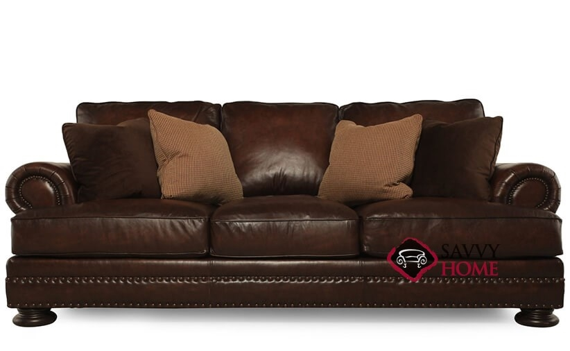 Quick-Ship Foster by Bernhardt Leather Sofa in by ...