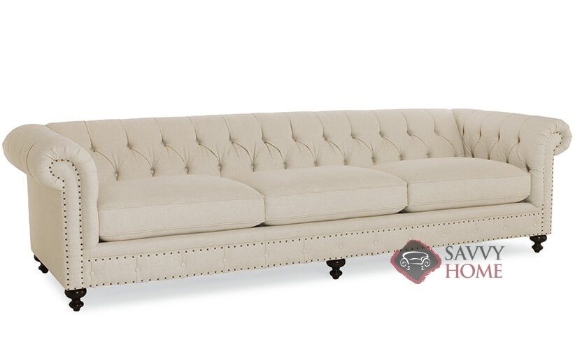 London Club Sofa With Down Blend Cushions By Bernhardt In 1741 002