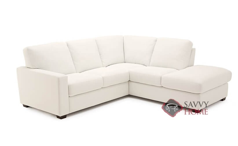 Westend Top-Grain Leather Chaise Sectional Sofa by Palliser