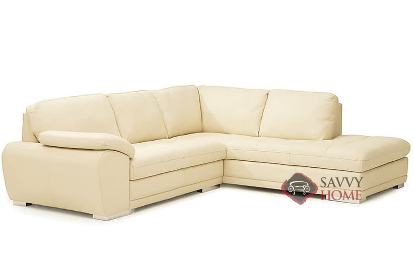 Miami Top-Grain Leather Compact Chaise Sectional Sofa by Palliser