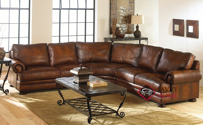 Original ... : bernhardt van gogh leather sectional - Sectionals, Sofas & Couches