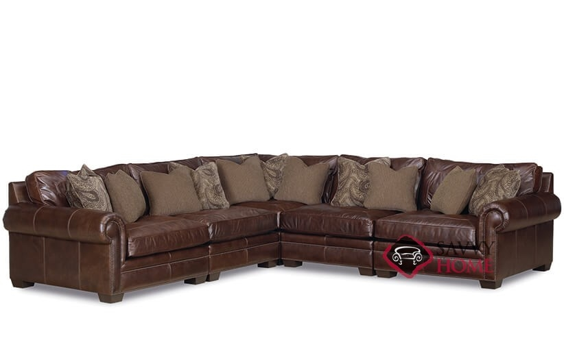 Grandview Leather True Sectional with Down-Blend Cushions by Bernhardt in 229-022  sc 1 st  Savvy Home Store : bernhardt sectional - Sectionals, Sofas & Couches