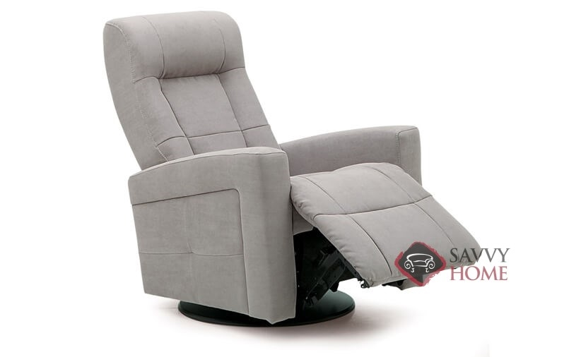 Chesapeake My Comfort Rocking And Reclining Chair By Palliser In Echosuede  Charcoal