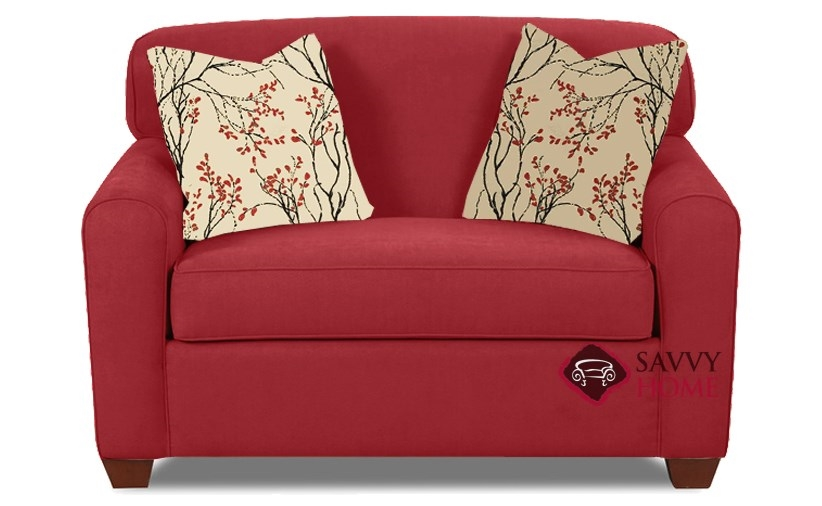 Quick-Ship Zurich Fabric Sleeper Sofas Chair in Willow Blaze Red by Savvy  with Fast Shipping | SavvyHomeStore.com