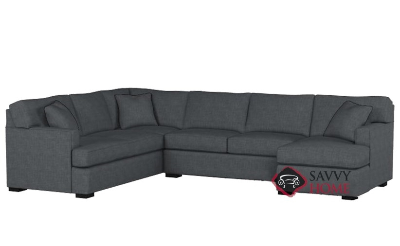 Attrayant Quick Ship. The 146 U Shape True Sectional Queen Sleeper Sofa By Stanton In  Bennett Charcoal