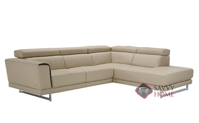 Garda (B887) Leather Stationary Chaise Sectional by Natuzzi is Fully ...