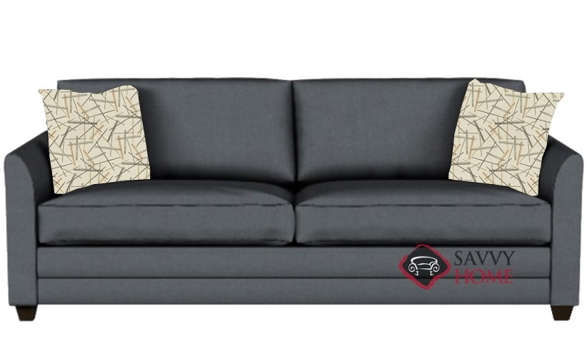 Charmant Valencia Queen Sleeper Sofa In Microsuede Charcoal