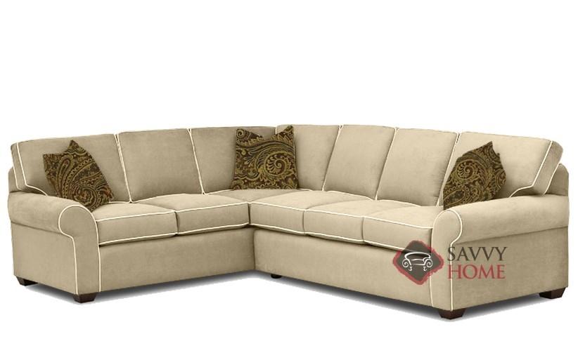 Seattle True Sectional Sleeper Sofa In Luna Dune