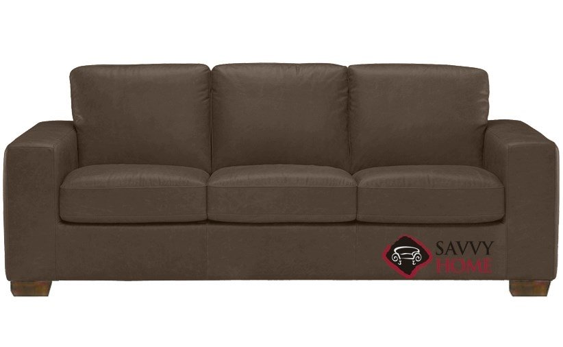Enjoyable Quick Ship Rubicon B534 Leather Sleeper Sofas Queen In Denver Dark Taupe By Natuzzi With Fast Shipping Savvyhomestore Com Gmtry Best Dining Table And Chair Ideas Images Gmtryco