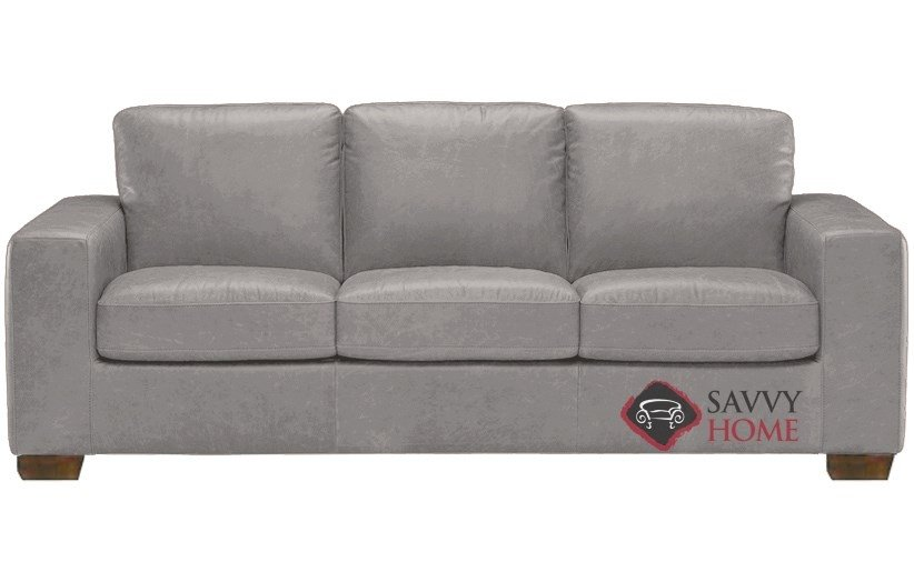 Superb Quick Ship Rubicon B534 Leather Sleeper Sofas Queen In Denver Medium Grey By Natuzzi With Fast Shipping Savvyhomestore Com Ocoug Best Dining Table And Chair Ideas Images Ocougorg