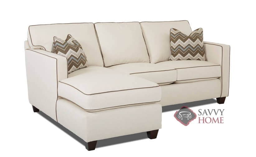 Jersey Fabric Stationary Chaise Sectional By Savvy Is