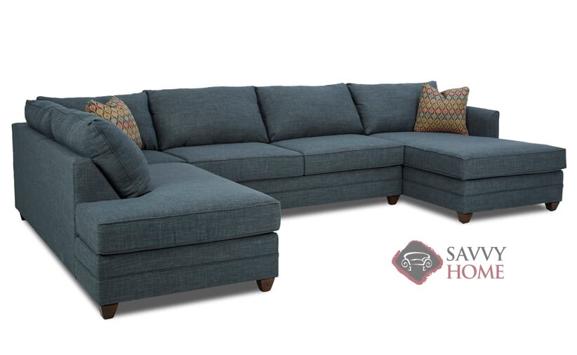 Valencia Fabric Chaise Sectional By Savvy Is Fully