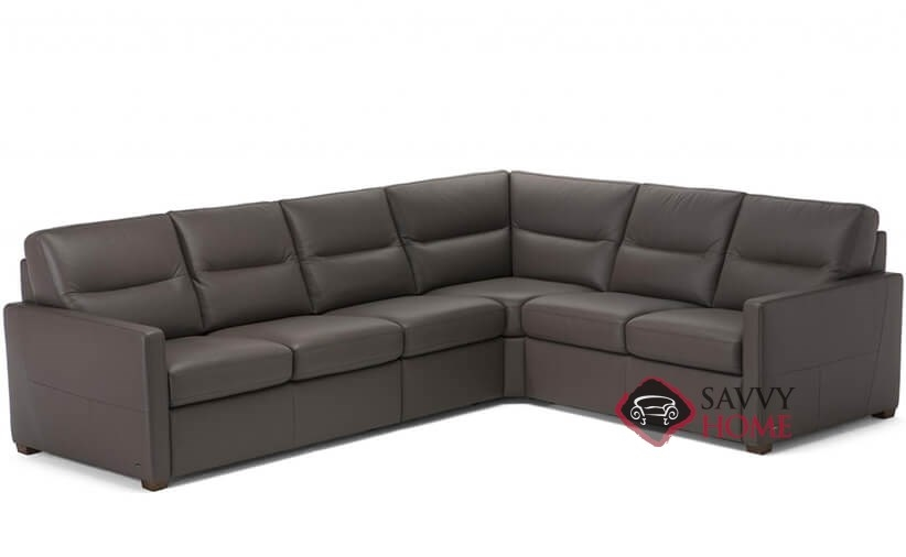 Conca True Sectional Leather Queen Sofa Bed by Natuzzi Editions  (C010-536/537/011/016/017)