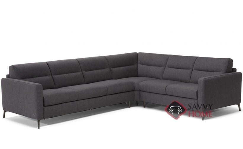 Caffaro Leather True Sectional Queen Sofa Bed by Natuzzi Editions  (C008-011/016/017/468/469)