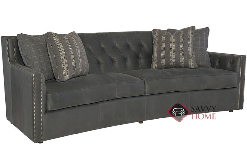 Candace Leather Sofa With Down Blend Cushions By Bernhardt In 133 011