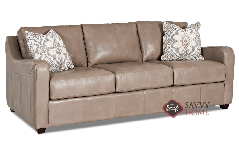Glendale Leather Sofa By Savvy Is Fully Customizable By You