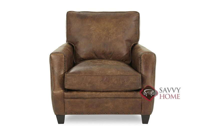 Lovely Barclay Leather Chair With Down Blend Cushion By Bernhardt In 259 020