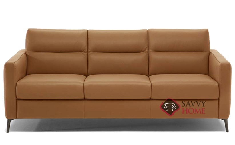 Quick-Ship Caffaro Leather Sleeper Sofas Queen in Oregon Cuoio by Natuzzi  with Fast Shipping | SavvyHomeStore.com