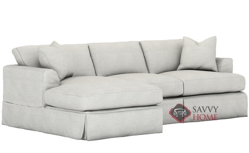 Berkeley Chaise Sectional Queen Sofa Bed with Slipcover by Savvy with  Down-Blend Cushions