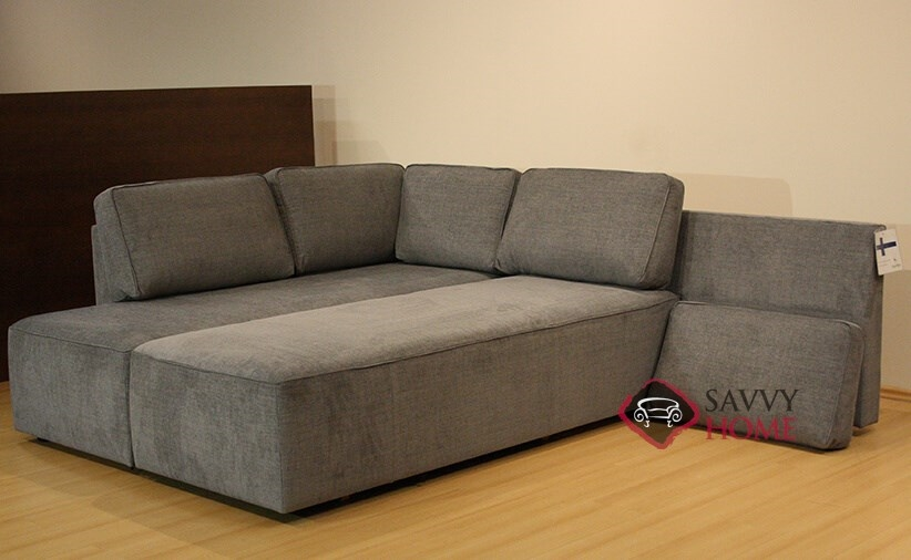 Quick ship new york by luonto fabric chaise sectional in for Sofa bed york
