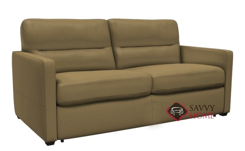 Quick-Ship Conca Leather Sleeper Sofas Full in Oregon Taupe by Natuzzi with  Fast Shipping | SavvyHomeStore.com