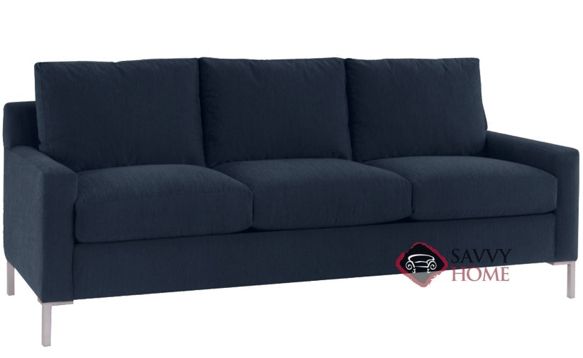 more photos 37cde 7b20f Quick-Ship Soho Fabric Sleeper Sofas Queen in Inga Navy by Lazar Industries  with Fast Shipping | SavvyHomeStore.com